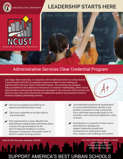 Front Page info flyer for clear cred service