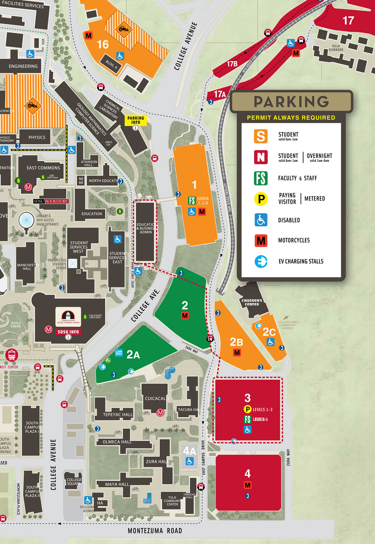 SDSU Map with New Numbering