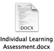 individual learning assessment document