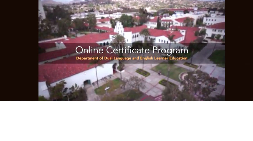 Dual Language Online Certificate Video Screenshot Large