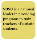 SDSU is a national leader in providing programs to train teachers of autistic students.