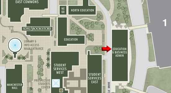 SDSU Map - EBA Building