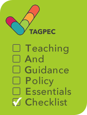 TAGPEC: Teaching and Guidance Policy Essentials Checklist