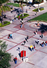 Arial View of SDSU Walkway