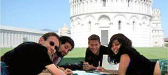 International Programs - Students and Tower