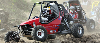 SDSU's Mini Baja car at the 2010 Mini Baja Competition