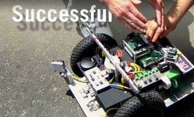 Successful - Student Working on Robot