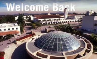 Welcome Back - View of SDSU Campus