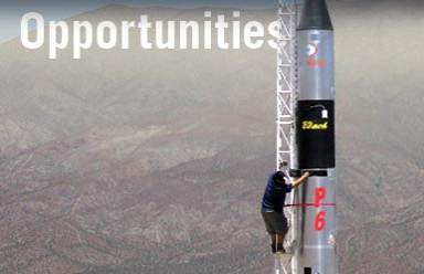 Opportunities - Student Climbing a Rocket
