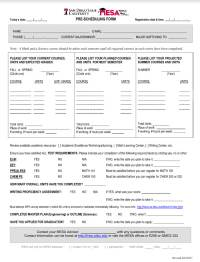 MESA Pre Scheduling Form