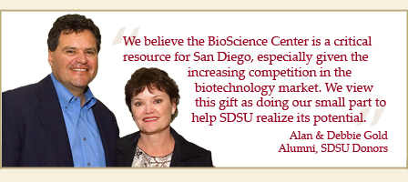 Photo of Alan and Debbie Gold, Alumni and SDSU donors.