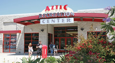 Aztec Recreation Center entrance