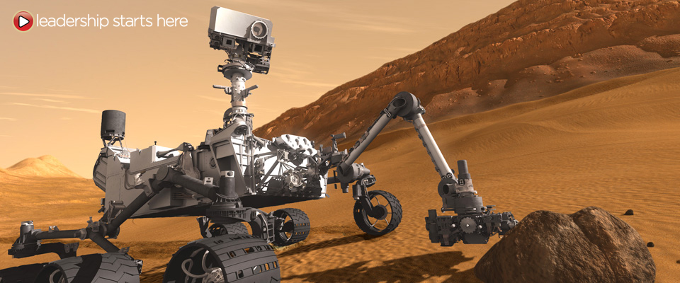 Curiosity Touching Down, Artist's Concept. Credit: NASA/JPL-Caltech