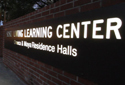 cool sign for Living and Learning Center