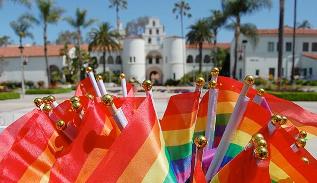 Rainbows at Hepner Hall