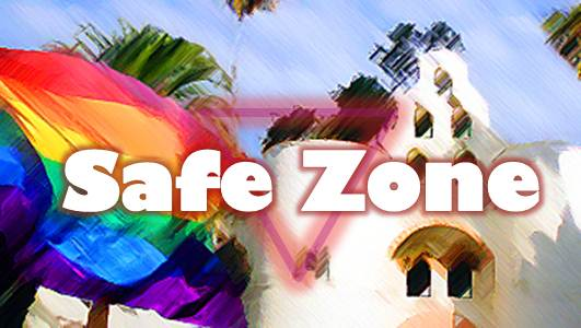 Safe Zone slider image Hepner Hall and Rainbow flag