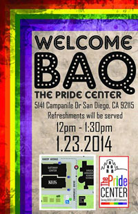 welcome baq event at the pride center