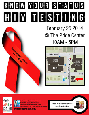 free HIV testing on 2/25/14