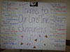 Thanks to Our Supporters Sign