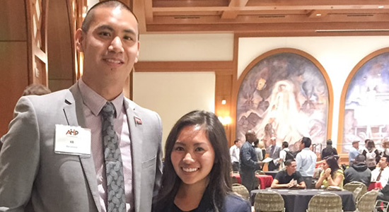 The Aztec Mentor Program gave Kevin Barcelona a chance to held Susan Nguyen see her potential.