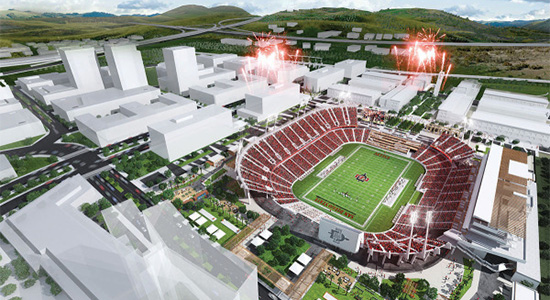 Artist's redndition of proposed stadium