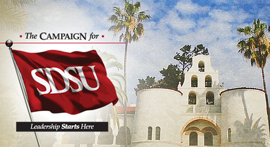 The Campaign for SDSU was launched in July 2007 with a goal of $500 million.