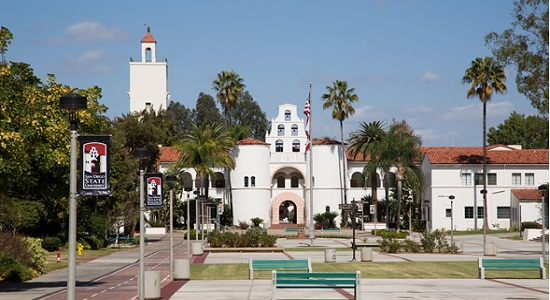 Photo of Hepner Hall during the day.