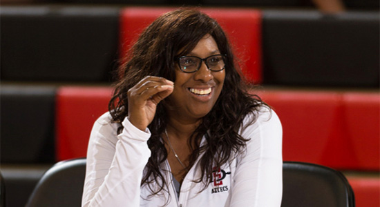 SDSU volleyball coach Deitre Collins-Parker earned her 300th career victory.