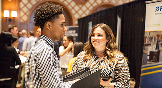 The career fair serves as a hiring event for entrepreneurial-minded students seeking internships.