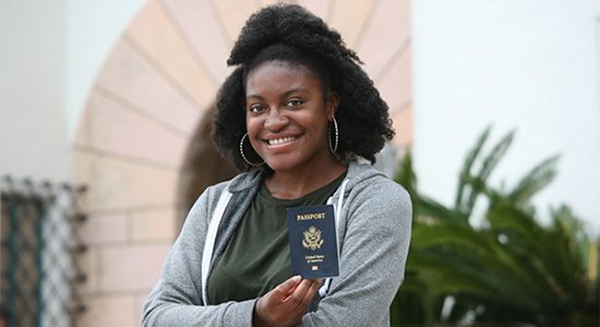 SDSU student Brittany Jones will study at the University of Ghana in the city of Legon this fall.