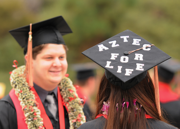 The Class of 2013 has a bright future, but they will always be Aztecs.