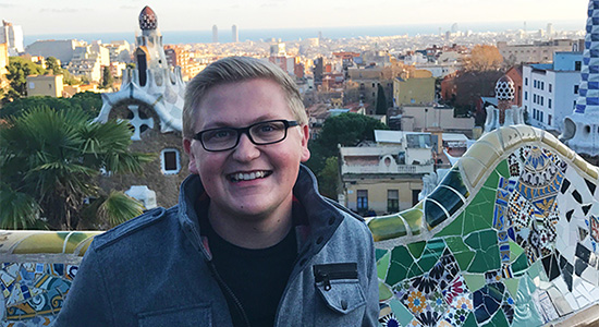 Zackary Albrecht studied in Barcelona, Spain, with help from the Associated Students Study Abroad Sc