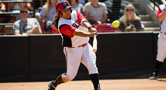 SDSU junior catcher Jenavee Peres was named the Mountain West Player of the Year.