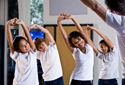children exercising as part of obesity prevention program
