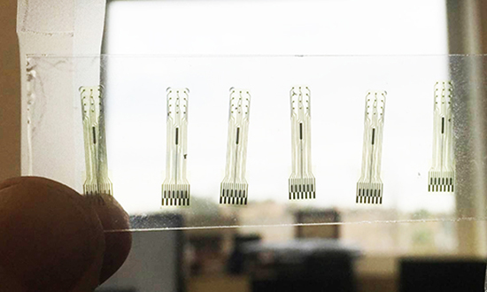 electrodes made out of glassy carbon