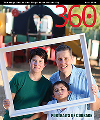 Fall 2016 Cover of 360: The Magazine of San Diego State University