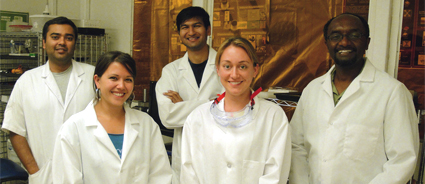 SDSU Graduate students in the lab