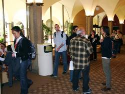Montezuma Hall was filled throughout Friday and Saturday with student presenters, judges and other event attendees.