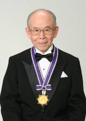 Isamu Akasaki received a Kyoto Prize for his research on blue LED.