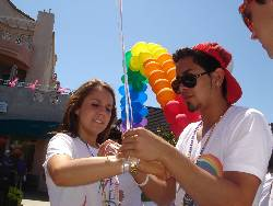 SDSU students get ready to march in the Pride Parade.