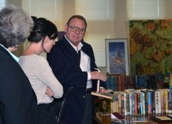 Marsh spent an afternoon with the Library staff, sharing the highlights of his collection.