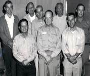 Physical Plant staff members including Tommy Bradeen (1st row - right) in his early days as an employee at San Diego State.