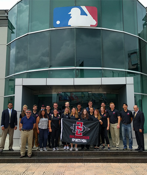 Students in SDSU's Sports MBA program visit the Dominican Republic