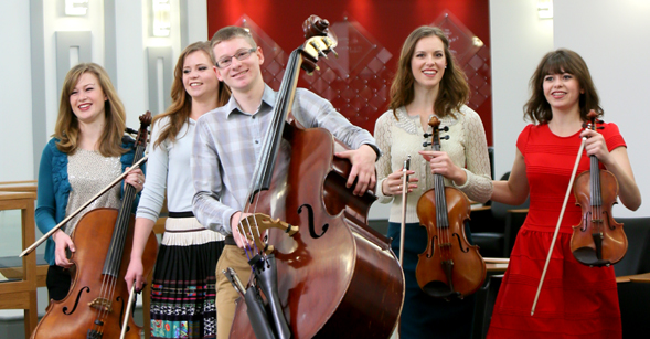 The Bunnell Strings (from left), Kimberly, Corrie, Ross, Keren and Cara.