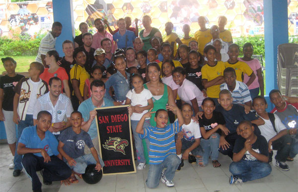 SDSU Sports MBA students visited a school in the Dominican Republic this summer.