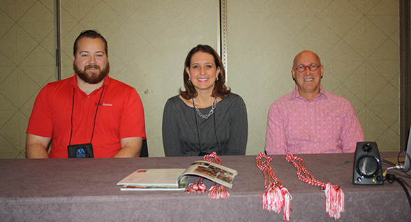 Jonathan Cole (left), Tammy Blackburn and Todd Summer presented at the CSU's Auxiliary Organization Association earlier this month.