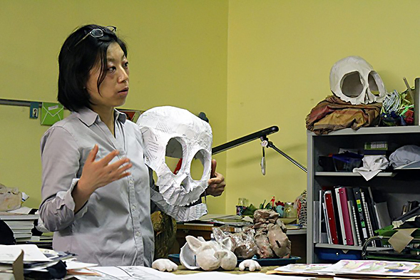 Nao Kobayashi is pursuing her master's degree in theatrical design. (Photo: Christian Hicks)