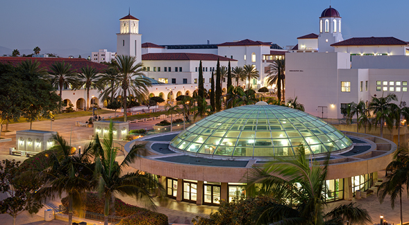 View of SDSU's Love Library (Photo: Jim Brady)