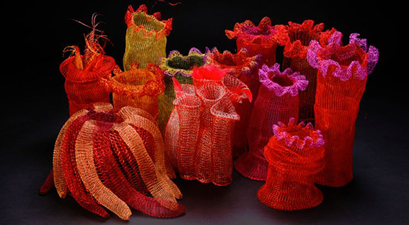 """Corals"" by Arline Fisch (Photos: Will Gullette, courtesy of Arline Fisch)"