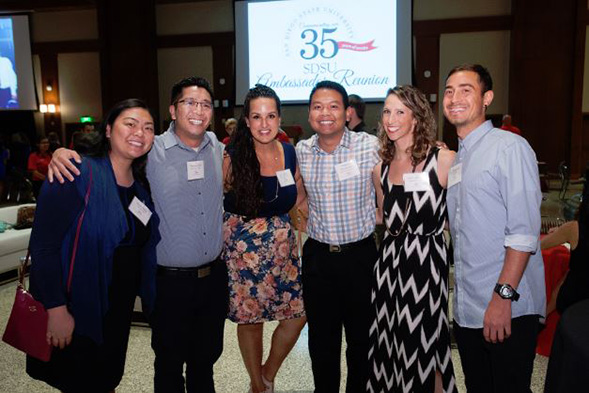 More than 200 SDSU Ambassador alumni attended the Ambassador Reunion in Montezuma Hall on Nov. 4. (Photo: Alan Decker)